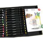 Набор маркеров SKETCHMARKER BRUSH 24 Food Set - Еда (24 маркера + сумка органайзер)