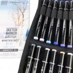 Набор маркеров SKETCHMARKER BRUSH 12 Winter Set - Зима (12 маркеров + сумка органайзер)