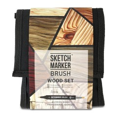 Набор маркеров SKETCHMARKER BRUSH 12 Wood Set - Оттенки дерева (12 маркеров + сумка органайзер)