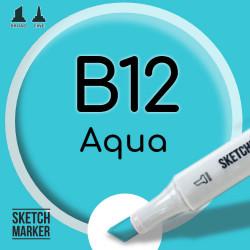 Двухсторонний маркер на спиртовой основе B12 Aqua (Вода) SKETCHMARKER