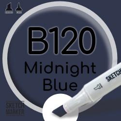Двухсторонний маркер на спиртовой основе B120 Midnight Blue (Полночный синий) SKETCHMARKER