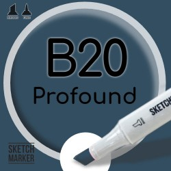 Двухсторонний маркер на спиртовой основе B20 Profound (Глубоководный) SKETCHMARKER