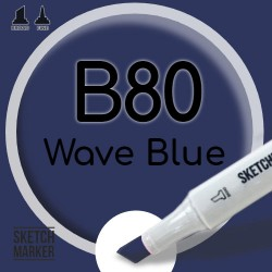 Двухсторонний маркер на спиртовой основе B80 Wave Blue (Морская волна) SKETCHMARKER