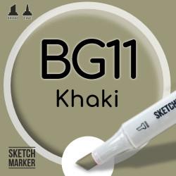 Двухсторонний маркер на спиртовой основе BG11 Khaki (Хаки) SKETCHMARKER