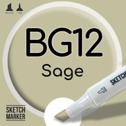 Двухсторонний маркер на спиртовой основе BG12 Sage (Шалфей) SKETCHMARKER