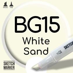 Двухсторонний маркер на спиртовой основе BG15 White Sand (Белый песок) SKETCHMARKER