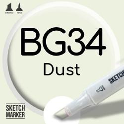 Двухсторонний маркер на спиртовой основе BG34 Dust (Грязь) SKETCHMARKER