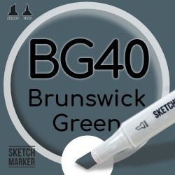Двухсторонний маркер на спиртовой основе BG40 Brunswick Green (Брауншвейгский зеленый) SKETCHMARKER