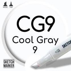 Двухсторонний маркер на спиртовой основе CG9 Cool Gray 9 (Прохладный серый 9) SKETCHMARKER