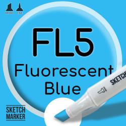 Двухсторонний маркер на спиртовой основе FL5 Fluorescent Blue (Неоновый Синий) SKETCHMARKER