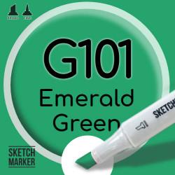 Двухсторонний маркер на спиртовой основе G101 Emerald Green (Зеленый изумрудный) SKETCHMARKER