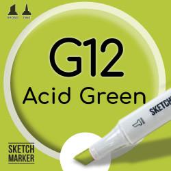 Двухсторонний маркер на спиртовой основе G12 Acid Green (Ярко зелёный) SKETCHMARKER