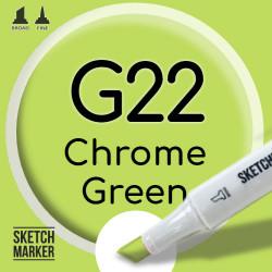 Двухсторонний маркер на спиртовой основе G22 Chrome Green (Зелёный хром) SKETCHMARKER