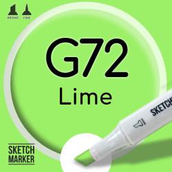Двухсторонний маркер на спиртовой основе G72 Lime (Зеленый лайм) SKETCHMARKER
