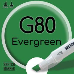 Двухсторонний маркер на спиртовой основе G80 Evergreen (Вечнозеленый) SKETCHMARKER