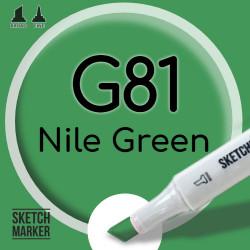 Двухсторонний маркер на спиртовой основе G81 Nile Green (Зеленый Нил) SKETCHMARKER