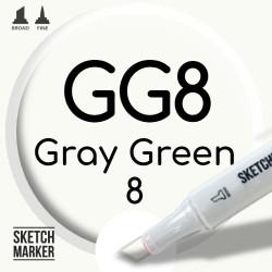 Двухсторонний маркер на спиртовой основе GG8 Gray Green 8 (Серо-зелёный 8) SKETCHMARKER