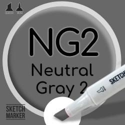 Двухсторонний маркер на спиртовой основе NG2 Neutral Gray 2 (Нейтральный серый 2) SKETCHMARKER
