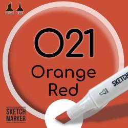 Двухсторонний маркер на спиртовой основе O21 Orange Red (Оранжево-красный) SKETCHMARKER