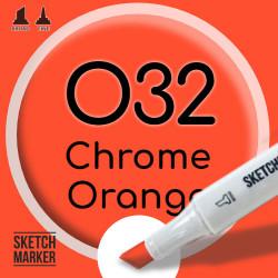 Двухсторонний маркер на спиртовой основе O32 Chrome Orange (Оранжево желтый) SKETCHMARKER