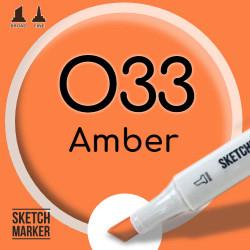 Двухсторонний маркер на спиртовой основе O33 Amber (Янтарный) SKETCHMARKER