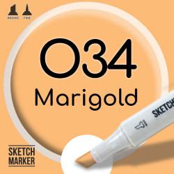 Двухсторонний маркер на спиртовой основе O34 Marigold (Ноготки) SKETCHMARKER
