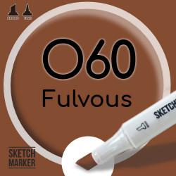 Двухсторонний маркер на спиртовой основе O60 Fulvous (Бурый) SKETCHMARKER