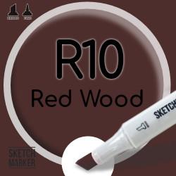 Двухсторонний маркер на спиртовой основе R10 Red Wood (Красное дерево) SKETCHMARKER