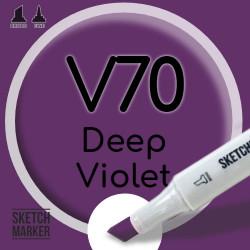 Двухсторонний маркер на спиртовой основе V70 Deep Violet (Глубокий фиолетовый) SKETCHMARKER