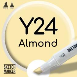 Двухсторонний маркер на спиртовой основе Y24 Almond (Миндальный) SKETCHMARKER