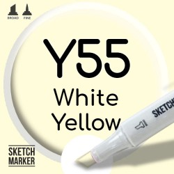Двухсторонний маркер на спиртовой основе Y55 White Yellow (Бело-жёлтый) SKETCHMARKER