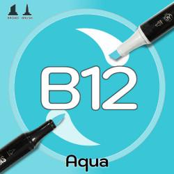 Маркер Sketchmarker BRUSH B12 Aqua (Вода) Два пера: кисть и долото. На спиртовой основе