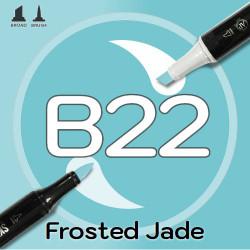 Маркер Sketchmarker BRUSH B22 Frosted Jade (Морозный нефрит) Два пера: кисть и долото. На спиртовой основе
