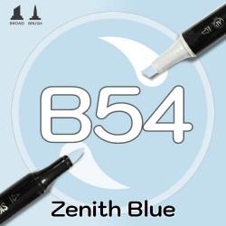 Маркер Sketchmarker BRUSH B54 Zenith Blue (Зенит синий) Два пера: кисть и долото. На спиртовой основе