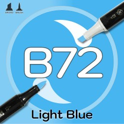 Маркер Sketchmarker BRUSH B72 Light Blue (Голубой) Два пера: кисть и долото. На спиртовой основе