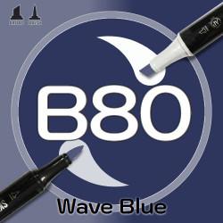 Маркер Sketchmarker BRUSH B80 Wave Blue (Морская волна) Два пера: кисть и долото. На спиртовой основе