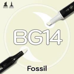Маркер Sketchmarker BRUSH BG14 Fossil (Окаменелость) Два пера: кисть и долото. На спиртовой основе