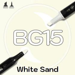 Маркер Sketchmarker BRUSH BG15 White Sand (Белый песок) Два пера: кисть и долото. На спиртовой основе