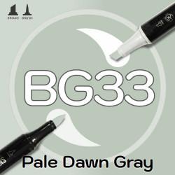 Маркер Sketchmarker BRUSH BG33 Pale Dawn (Бледно-серый рассвет) Два пера: кисть и долото. На спиртовой основе