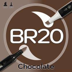 Маркер Sketchmarker BRUSH BR20 Chocolate (Шоколад) Два пера: кисть и долото. На спиртовой основе