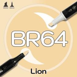 Маркер Sketchmarker BRUSH BR64 Lion (Лев) Два пера: кисть и долото. На спиртовой основе