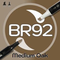 Маркер Sketchmarker BRUSH BR92 Medium Oak (Дуб) Два пера: кисть и долото. На спиртовой основе