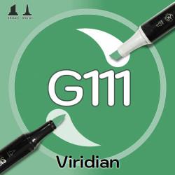 Маркер Sketchmarker BRUSH G111 Viridian (Голубовато зеленый) Два пера: кисть и долото. На спиртовой основе