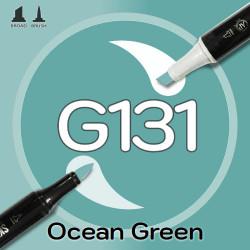 Маркер Sketchmarker BRUSH G131 Ocean Green (Зеленый океан) Два пера: кисть и долото. На спиртовой основе