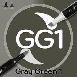 Маркер Sketchmarker BRUSH GG1 Gray Green 1 (Серо-зелёный 1) Два пера: кисть и долото. На спиртовой основе