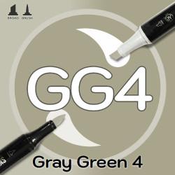Маркер Sketchmarker BRUSH GG4 Gray Green 4 (Серо зелёный 4) Два пера: кисть и долото. На спиртовой основе