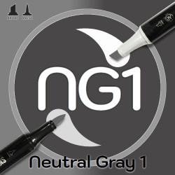 Маркер Sketchmarker BRUSH NG1 Neutral Gray 1 (Нейтральный серый 1) Два пера: кисть и долото. На спиртовой основе