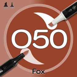 Маркер Sketchmarker BRUSH O50 Fox (Лиса) Два пера: кисть и долото. На спиртовой основе