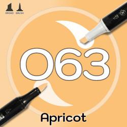 Маркер Sketchmarker BRUSH O63 Apricot (Абрикос) Два пера: кисть и долото. На спиртовой основе
