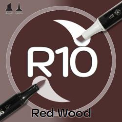 Маркер Sketchmarker BRUSH R10 Red Wood (Красное дерево) Два пера: кисть и долото. На спиртовой основе